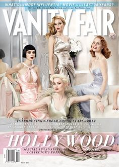 Adepero Oduye, Elizabeth Olsen, Felicity Jones, Jennifer Lawrence, Jessica Chastain, Mia Wasikowska, Paula Patton, Rooney Mara, Shailene Woodley, and Lily Collins for Vanity Fair ~ March 2012. Photographed by Mario Testino, makeup by Charlotte Tilbury, styled by Jessica Diehl, hair styled by Oribe.