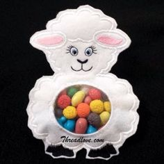 Easter embroidery designs - Easter LambCandy Bag