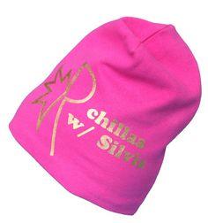 Robin chillaa with YOU! Pinkki Robin-pipo kultaisella tekstillä. TILAA omalla nimelläsi: www.mewe.fi