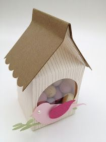 Stampin' Up! Mini Milk Carton Die bird house Easter gift