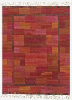 Marianne Richter; Flat Weave Rug for Marta Maas-Fjetterstrom, c1963.