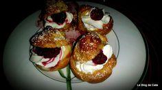 Le blog de Cata: Petits Choux à la crème pâtissière, chantilly et f...