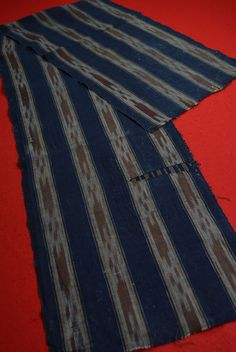 WR29/110 Vintage Japanese Fabric Cotton Antique Boro Patch Indigo blue SHIMA 66""