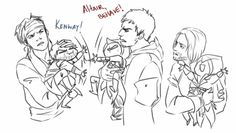 Found this on tumblr XD <-- You don't understand how happy you made me, Leonardo babysitting Ezio! XD And Mary putting up with Kenway and oh, Jaysus, Malik, you suffer so much!