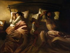 Vincent Desiderio - Sleeping Family [1990] | Vincent Desiderio (born…