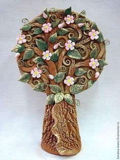 Tree Of Life Art, Mural Art, Ceramic Clay, Clay Creations, Clay Crafts, Clay Art, Garden Art, Polymer Clay, Sculptures