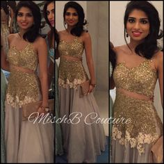 Sparkly gown by MischB Couture
