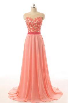 Lovely Handmade Lace Long Backless Prom Dress For Girls – Okdresses