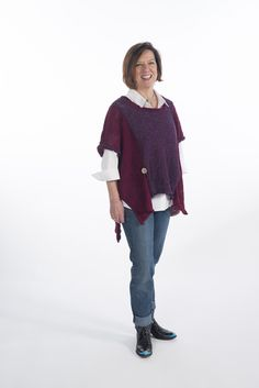 """This oversize pullover vest features wonderful color block of of your choice, and features beautiful accent buttons at the vents.  One Size.  [share title="""""""" socials=""""facebook, twitter, google, pinterest, bookmark"""" class="""""""" icon_type="""""""" ]"""