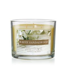 White Sandalwood Candle with notes of black pepper, exotic cardamom, vanilla orchid, sandalwood, hazelwood, rich amber and mahogany | Avon – Avon Home Decor – Candles – Shop Avon Home Decor Candles at:  https://www.avon.com/category/home/candles?rep=barbieb