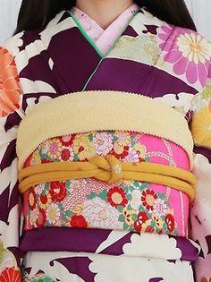 Yumedori Antique Kimono 夢鳥アンティーク着物 Retro kimono レトロ振袖 tamakagami 玉鏡 (mirror ball) - (With or without hakama) - 2014 Source : beppin-hakama