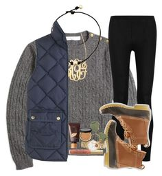 """are bean boots still in style?"" by ellaswiftie13 ❤ liked on Polyvore featuring Brooks Brothers, Donna Karan, Jennifer Zeuner, L.L.Bean, J.Crew, tarte, Kate Spade, Ray-Ban and Alex and Ani"