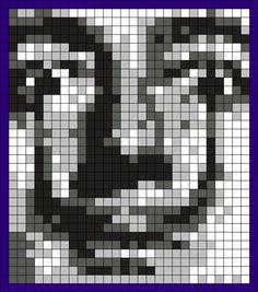 Salvador Dali Perler Bead Pattern / Bead Sprite