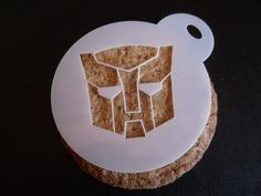 Unique bespoke new laser cut transformer cookie / face painting stencil