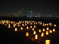Earth hour in Dubai - link to photographer's blog.