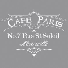 RAYHER - 38904000 - Schablone Café Paris, 30,5x30,5cm, SB-Btl 1Stück: Amazon.de: Küche & Haushalt
