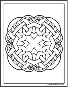Quad Celtic Knot Designs On Printable Coloring Pages From ColorWithFuzzy CelticKnotDesigns