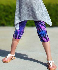 Look at this #zulilyfind! Purple & Blue Rylee Leggings - Toddler & Girls by Mi-Parti Designs #zulilyfinds