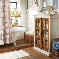 You probably begin and end your day here, so make sure your bath has plenty of hands-on expressions of your personal style. #pier1 #bathroomgoals