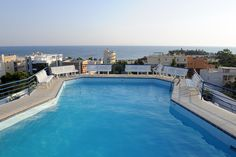 The swimming pool at The Emmantina Hotel in Greece overlooking the Mediterranean! I may never come home!