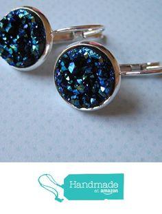 Silver-Tone Leverback Drop Earrings 12mm Blue Faux Druzy Stone from Summerfield Collection https://www.amazon.com/dp/B018WGE7JS/ref=hnd_sw_r_pi_dp_kavOxbH2ZP94W #handmadeatamazon