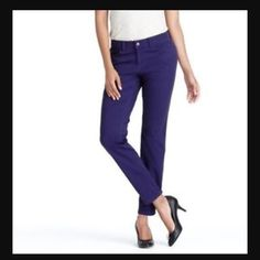 9e39f59df9 Purple skinny pant Super cute bright purple skinny pants in a soft and comfy  cotton twill