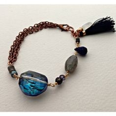 Love the blue crystal on this bracelet