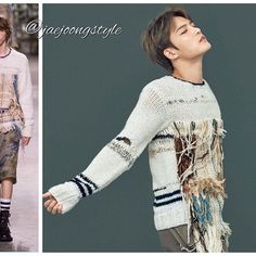 #kimjaejoong wearing @driesvannoten knitwear with tattered thread (¥162,000) for @harpersbazaarjapan June '17 issue. Credit: summer的连衣裙VV on weibo; Harper's Bazaar Japan and The Fashionisto. #jaejoong #김재중 #ジェジュン #korean #celebrity #singer #singersongwriter #theoneandonly #mensfashion #gorgeous #handsome #talent #helooksgoodinanything 😉