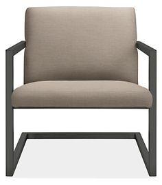 "Finn Outdoor Lounge Chair  Room & Board 27""w 30""d 30""h Inside Depth: 20""d $600 Inside Width: 24""w Arm Height: 22""h Seat Height: 16""h"