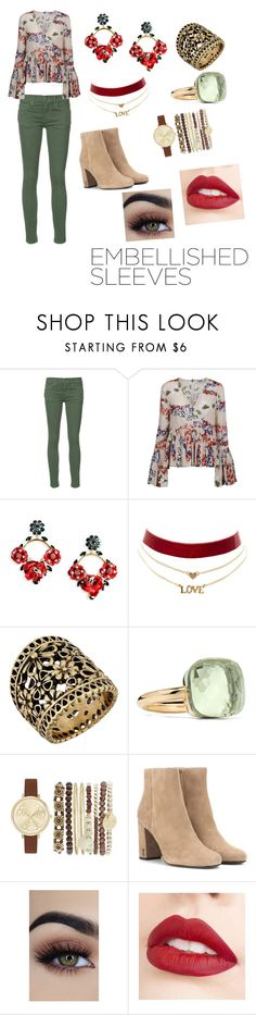 """Embellished Sleeves - Flower Power"" by adriana-picos ❤ liked on Polyvore featuring The Great, MSGM, Dolce&Gabbana, Charlotte Russe, Lucky Brand, Pomellato, Jessica Carlyle, Yves Saint Laurent, Jouer and flowerpower"