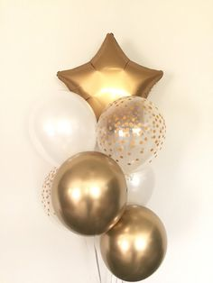 Twinkle Little Star Balloons Gold and White Balloons White Balloon Decorations Party, Graduation Decorations, Balloon Garland, Baby Shower Decorations, 40th Birthday Balloons, Barbie Birthday, Gold Birthday, White Balloons, Helium Balloons