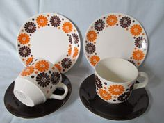 'BOUTIQUE' great to see with what looks to be original saucers
