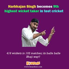 Harbhajan Singh becomes 9th highest wicket taker in test cricket
