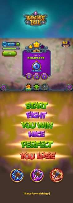 Wizard's Tale game gui on Behance