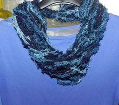 Sciarpa collana scaldacollo ad anello donna handmade infinity scarf