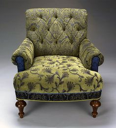 """""""Middlebury Chair""""  Upholstered Chair    Created by Mary Lynn O'Shea"""