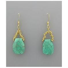 Stone Drop Earrings $22