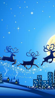 Reindeers Christmas iPhone 6 & iPhone 6 Plus Wallpaper