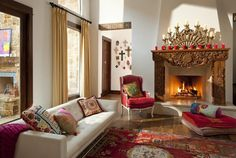 """eclectic living room by Astleford Interiors, Inc. beautiful except that """"thing"""" on the fire place."""