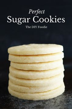 LOVE these sugar cookies! I am totally a sugar cookie fanatic. And these take the cake.