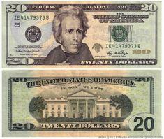 Banconota USA 20 Dollari 2017 UNC Presidente Andrew Jackson - The White House (Casa Bianca), Washington DC - Color - lettera Zecca di Atlanta