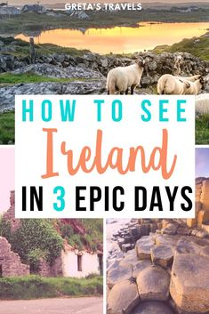 Planning a road trip to Ireland? Check out this guide for all the best things to do and see in Ireland; including Cork, Kerry, Galway and Dublin. Ireland 3-Day Itinerary: Cork to Dublin Road Trip on the Wild Atlantic Way #ireland