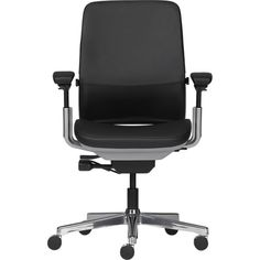 Steelcase® Amia in Design™ Black Leather Office Chair in Office Chairs | Crate and Barrel