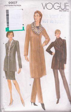 Vogue 9907 OOP coat (1998)