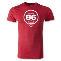 Arsenal Eighteen 86 Men's Fashion T-Shirt (Heather Red)
