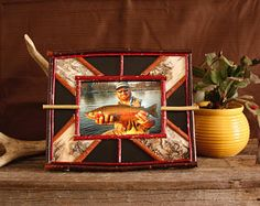 Rustic Picture Frame- First Catch Frame- Fishing Frame- Hunting Frame- Nature Frame- Twig Frame- Birch Bark Frame- Camping Frame by GratefulEarthArtwork on Etsy Rustic Picture Frames, Rustic Frames, Reclaimed Wood Frames, Reclaimed Lumber, Birch Bark, Wedding Frames, Finding Joy, Rocky Mountains, Mother Nature