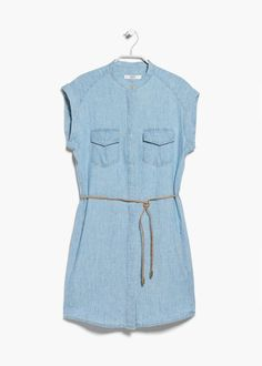 12 Must-Have Denim Dresses to Inspire Your Summer Style: Mango Cotton Blend Shirt Dress