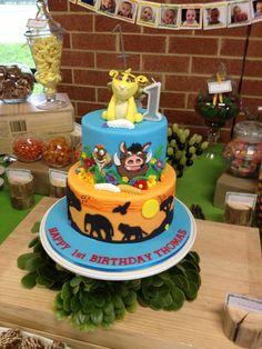 Lion king birthday cake Lion King Party, Lion King Birthday, 1st Birthday Parties, Birthday Ideas, Birthday Cake, Lion King Cakes, First Birthdays, Jay, Celebrations