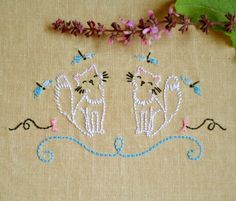 Animal embroidery hand embroidery patterns por NaNeeHandEmbroidery