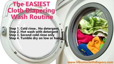 The easiest cloth diaper washing routine.